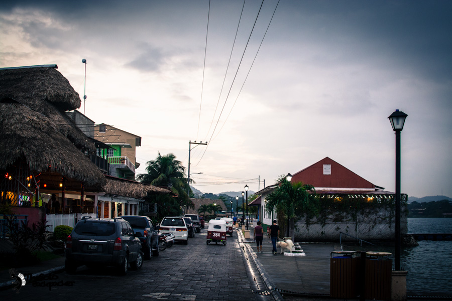Flores streets Guatemala backpacking itinerary