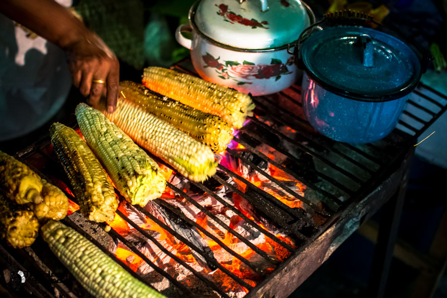 Street food in Antigua Guatemala backpacking itinerary