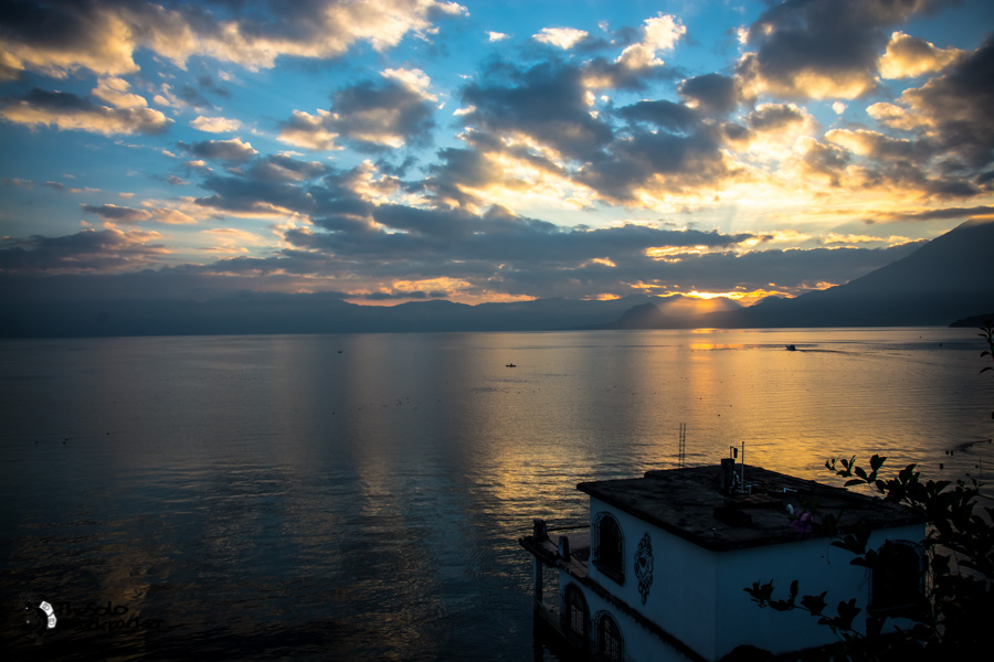 The sunrise in San Pedro on Lake Atitlan Guatemala backpacking itinerary