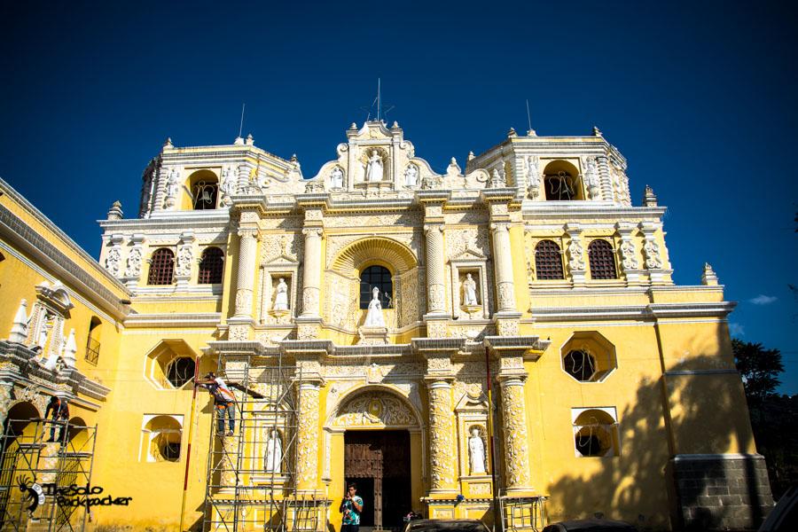 Iglesia de La Merced in Antigua Guatemala backpacking itinerary