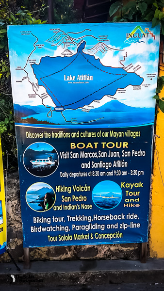 Boat Tours from San Pedro Guatemala backpacking itinerary