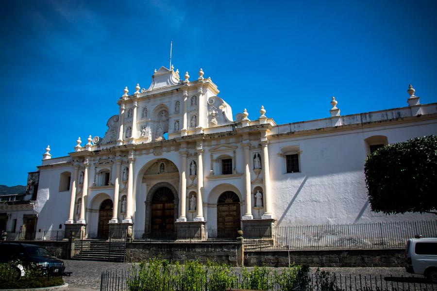 Antigua Guatemala Cathedral Guatemala backpacking itinerary