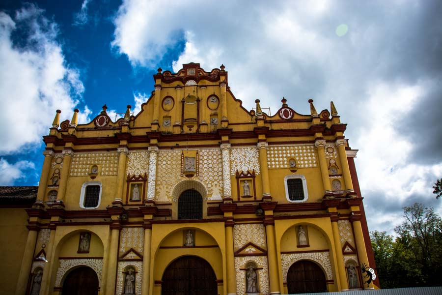 The Cathedral of San Cristobal de Las Casas Mexico backpacking itinerary