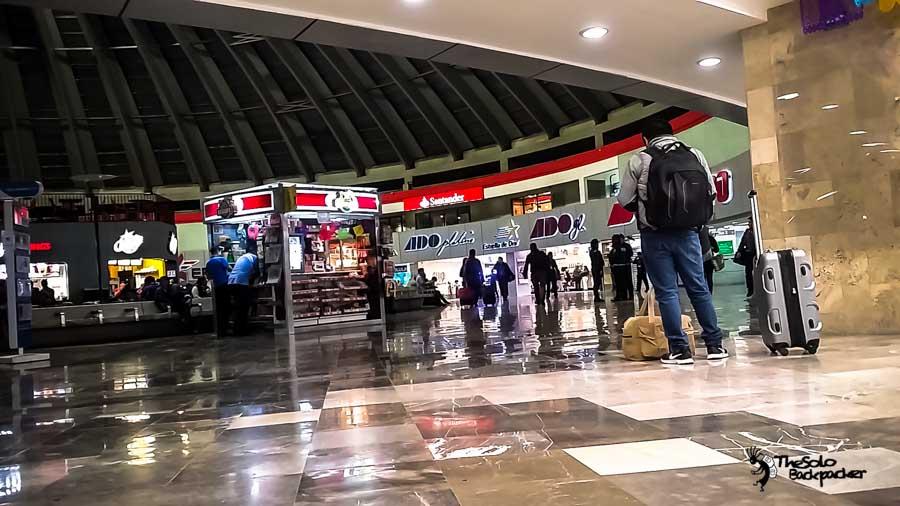 terminal de Autobuses de Pasajeros de Oriente(TAPO) Mexico backpacking Itinerary