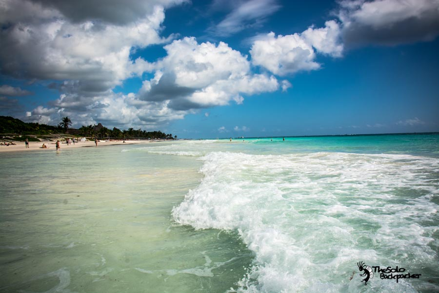 Tulum Beach,Mexico backpacking itinerary