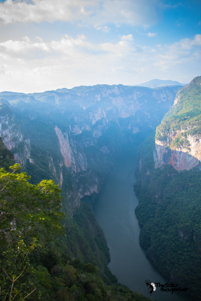 Cañón del Sumidero view from top Mexico backpacking itinerary