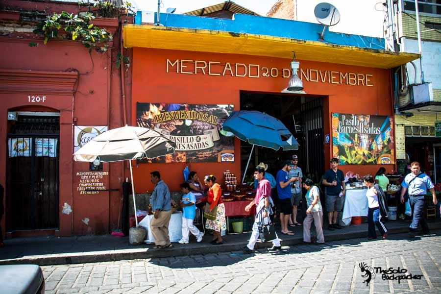 Oaxaca 20 de Noviembre Market Mexico backpacking itinerary