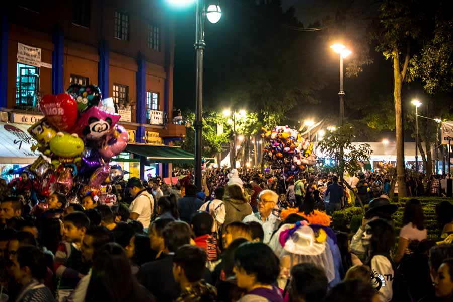 Coyoacan town, day of death celebration Mexico backpacking Itinerary