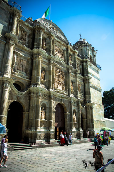 Oaxaca Cathedral Mexico backpacking itinerary