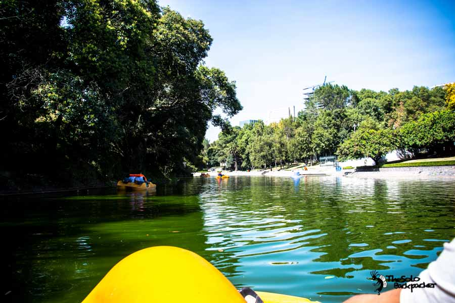 boat at Chapultepec park in Mexico city Mexico backpacking Itinerary